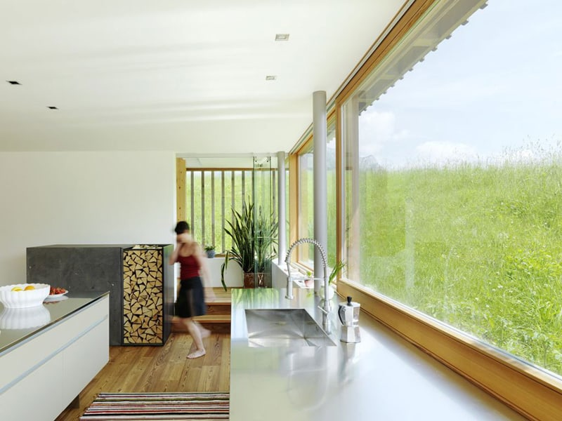 View In Gallery Wood And Glass Mountain House With Trio Of