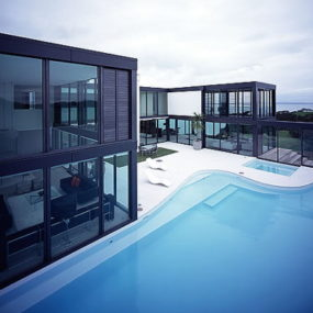 Contemporary See-Through Woodside Bay Home
