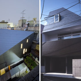 Japanese House Design – three-wall design houses 24 sound proof rooms!