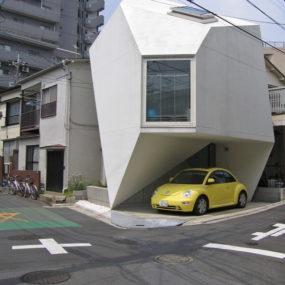 Ultra-Modern Home Design in Tokyo – Futuristic Origami-Inspired House