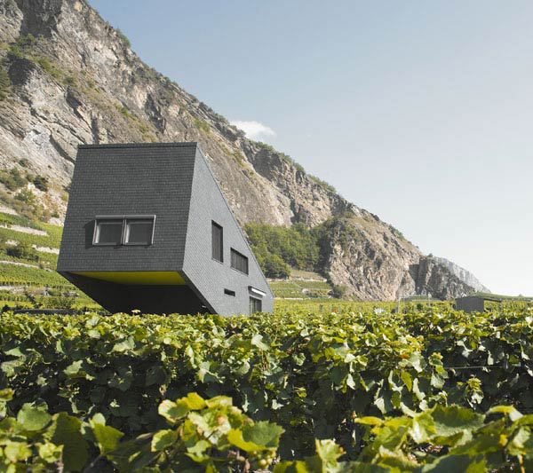 zufferey house 2 Mountain Home Design in Switzerland mimics the mountains