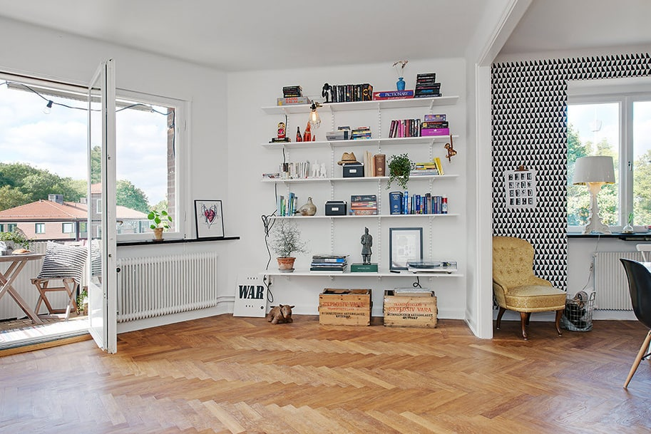 View In Gallery Renovated 1930s Apartment Is Fun And Fabulous Hot