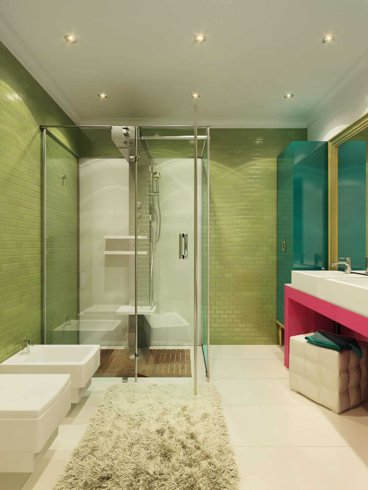 Pop Art Style Apartment Decorating Cacophony Of Color - Bathroom remake