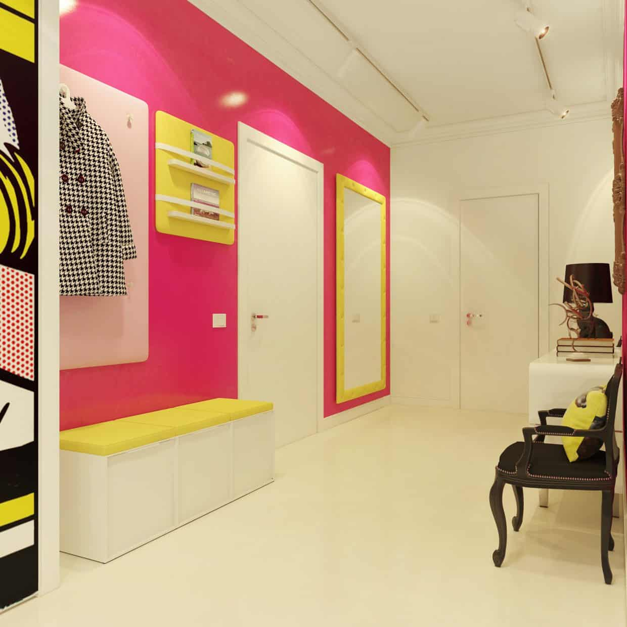 Pop Art Style Apartment Decorating - Cacophony Of Color