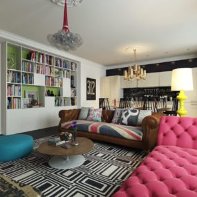 Pop Art Style Apartment Decorating – Cacophony Of Color
