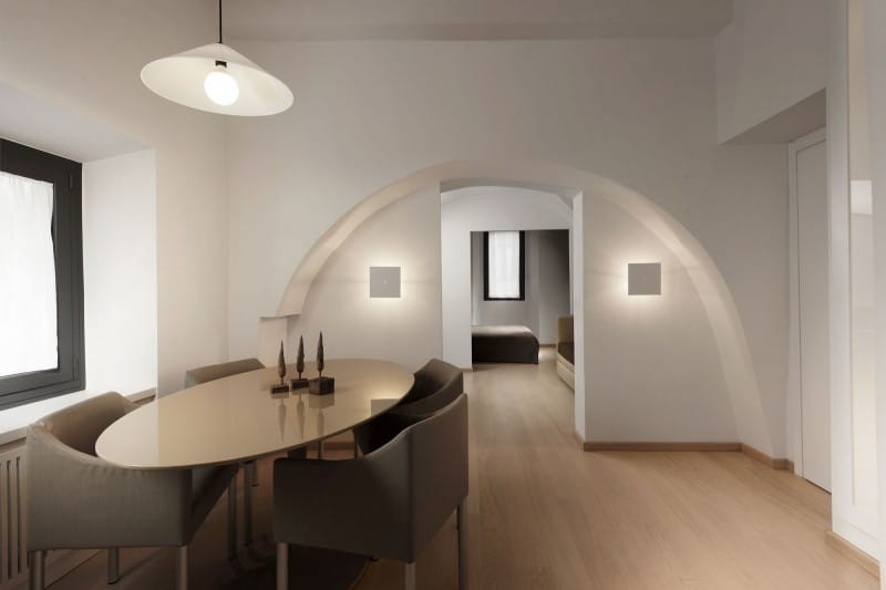 Curvaceous Penthouse Apartment In Rome Renovated To Perfection