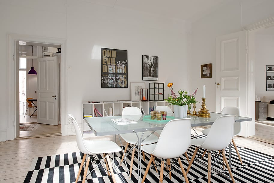 Renovated heirloom apartment combines original details for Modern accents