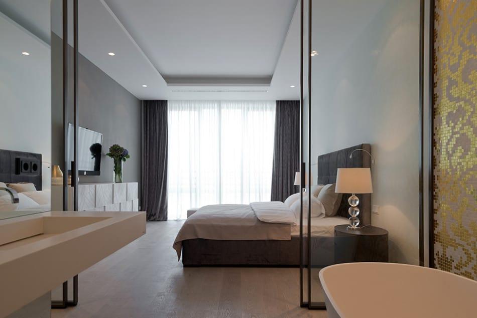 Lighting Details Create Drama In Modern Open Plan Apartment