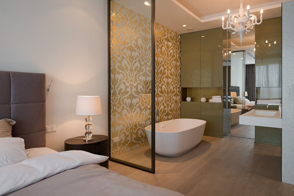 view in gallery lighting details create drama modern open plan apartment - Planning An Ensuite