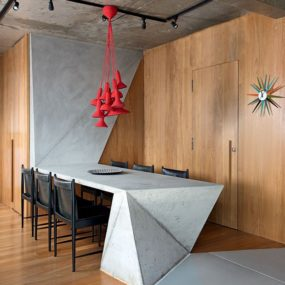 Triplex Reconfigured Into Trilevel Home With Ultra Modern Touches