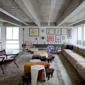 Estudiobola Furnishings in Vibrant Colours Create Minimalist Wonderland in Sao Paolo Apartment