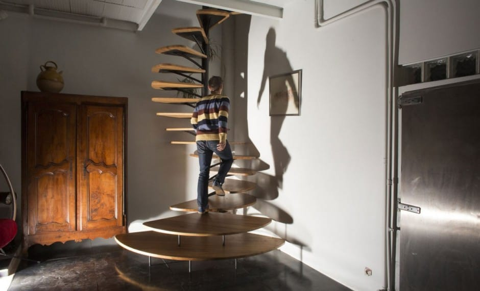 View In Gallery Oak Spiral Staircase Metal Backbone 2 Backbone Thumb  630x382 28553 Oak Spiral Staircase With Metal Backbone
