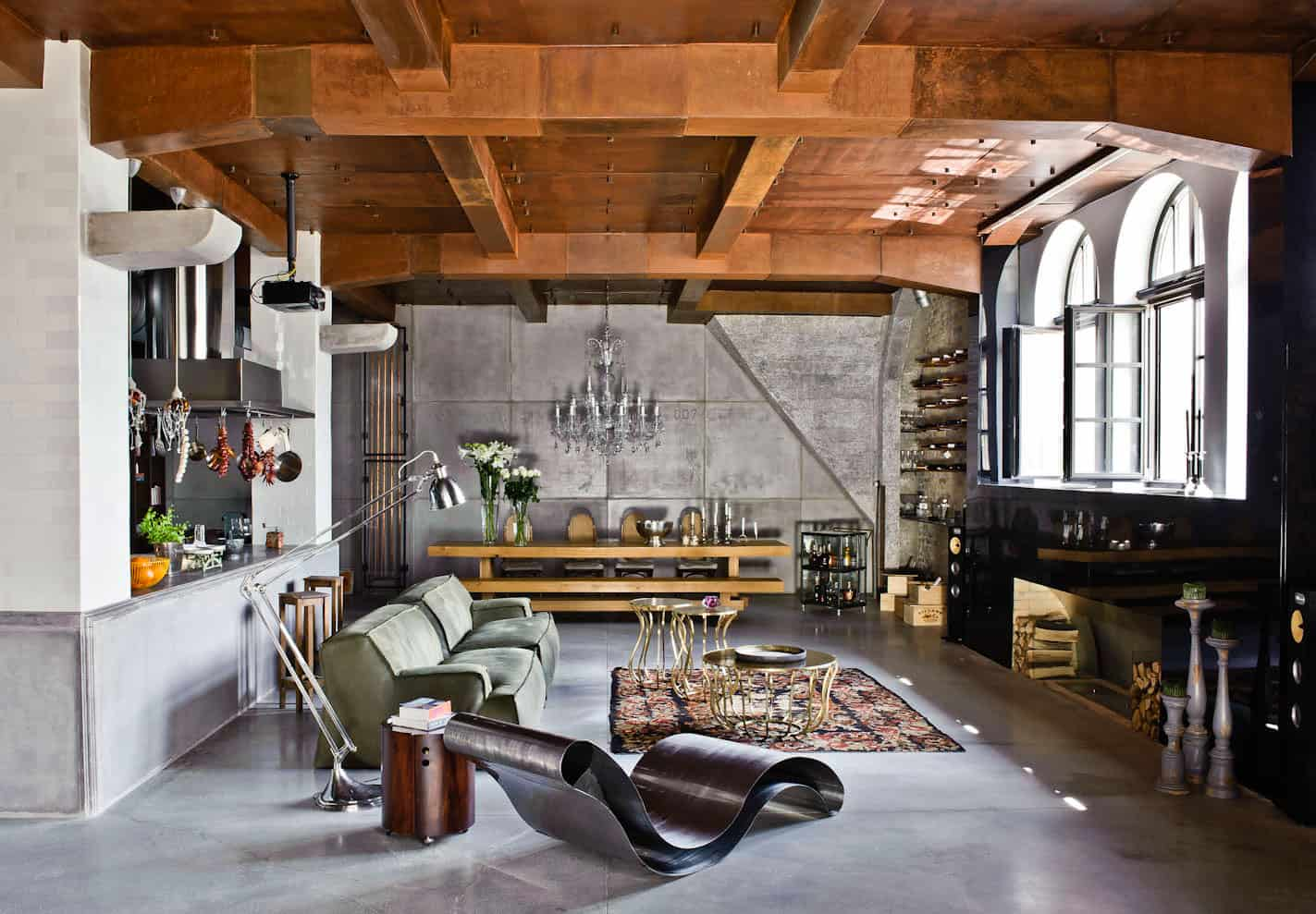 View In Gallery Eclectic Loft Apartment Budapest Shay Sabag 8 Living