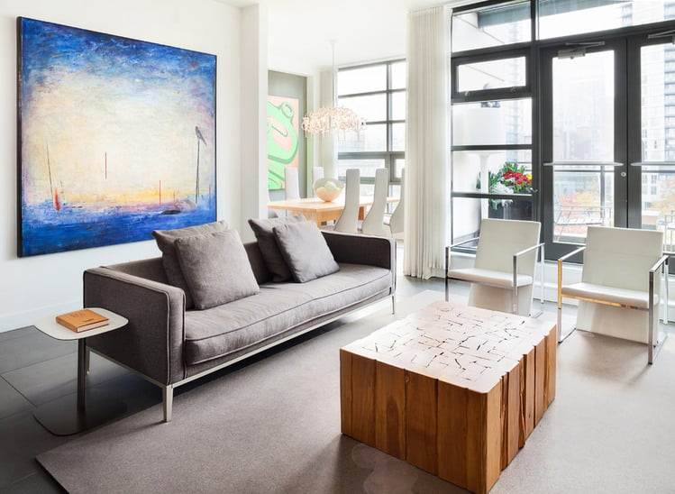 View In Gallery Urban Penthouse Marrying Contemporary Design And Art 2 Thumb 630xauto 35973 The Living Room