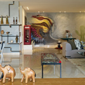 Eclectic Interior Splashed in Colorful Furniture and Art, for Fun and Uniqueness