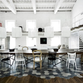 Heavenly Interiors and Beautiful Floors: a Warehouse Renovation by Paola Navone