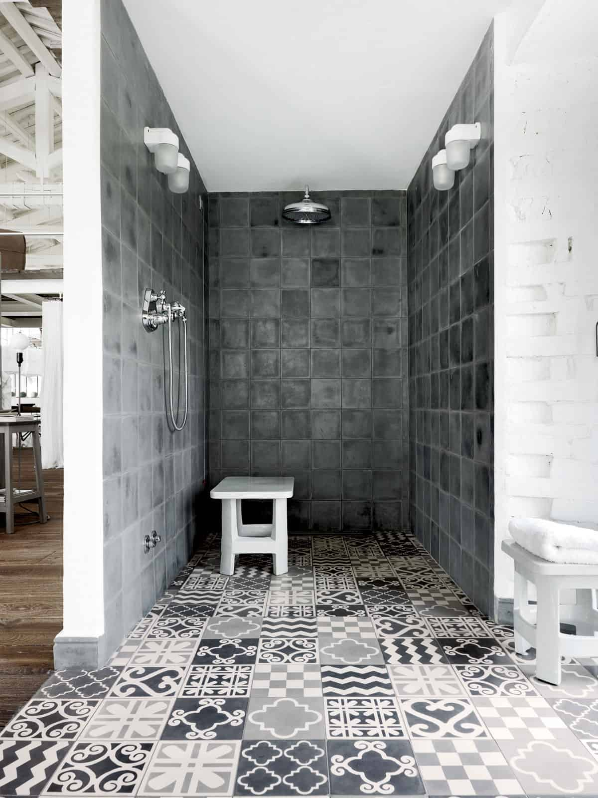 View In Gallery Warehouse Renovation Ramps Up Visual Volume 9 Shower.