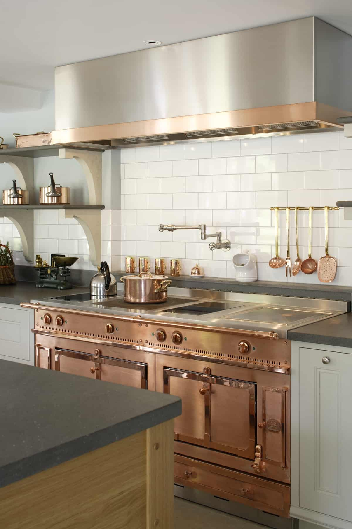 White Traditional Kitchen Copper. View In Gallery Bespoke Cook%E2%80 ...