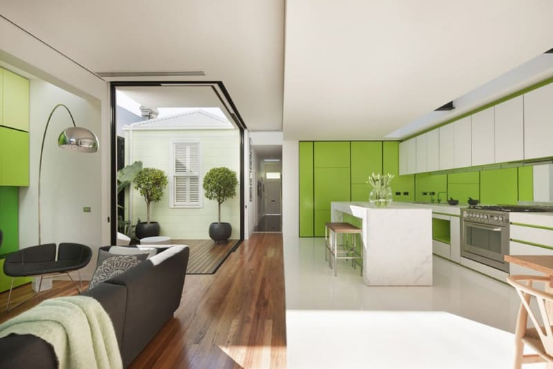 View In Gallery Green Entry Door Sets The Green Motif For The Entire House  2 Thumb 630xauto 53370 Green