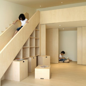 Stair Slide for Kids, Under Stair Storage for Parents
