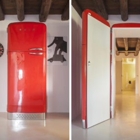 Unusual Interior Door Disguises as a Fridge