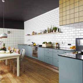 White Subway Tile Kitchen Designs are Incredibly Universal:  Urban vs. Country