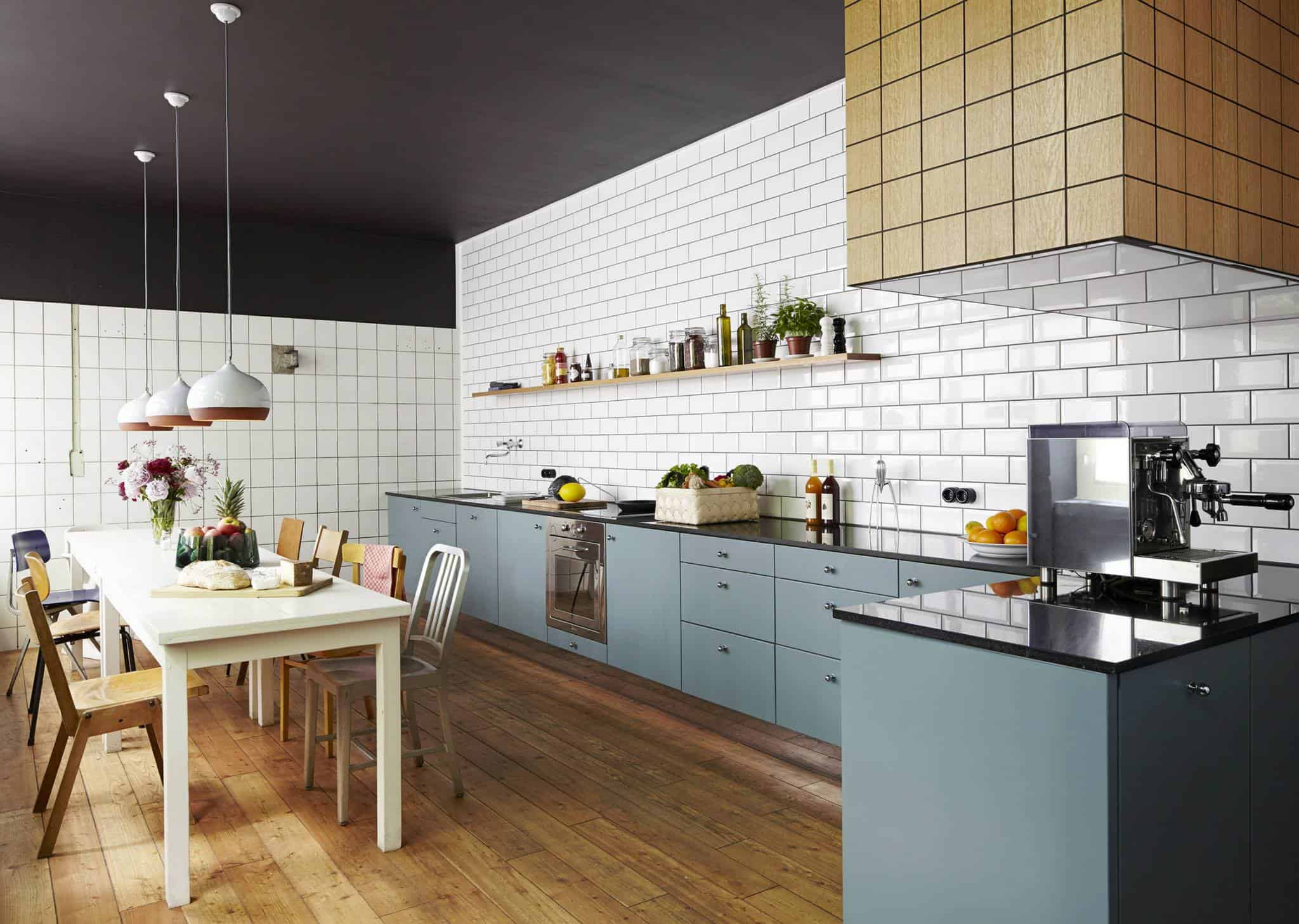White subway tile kitchen designs are incredibly universal for Modern mexican kitchen design