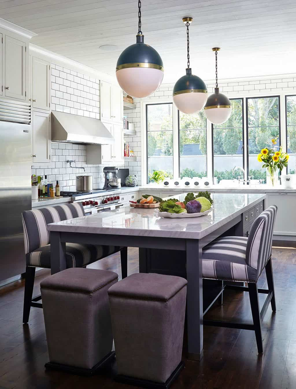 White subway tile kitchen designs are incredibly universal urban view in gallery compare these two amazingly similar but different kitchens dailygadgetfo Images
