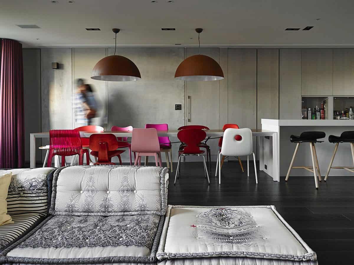 Neat Living Room Designed Around Popular Sofa