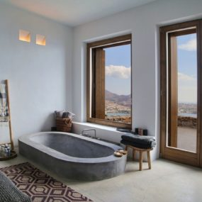 Partially Sunken Bath Could be a Convenient Option