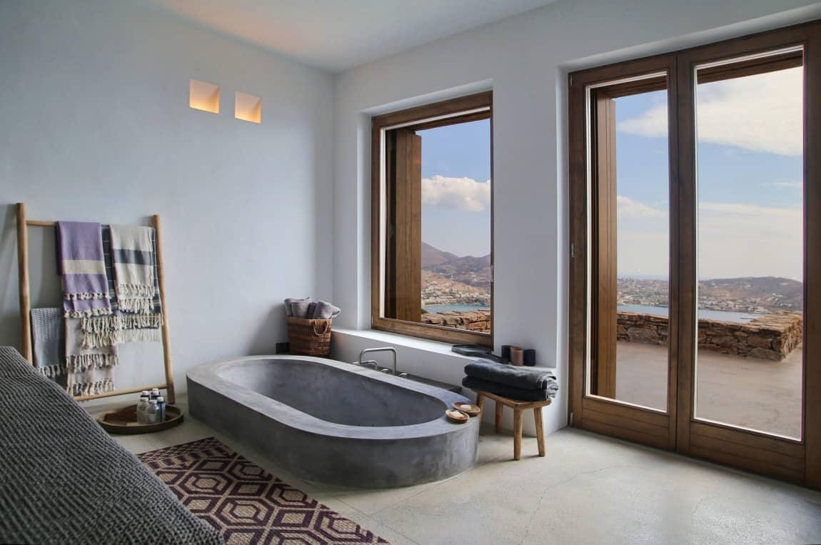 Partially Sunken Bath Could Be A Convenient Option