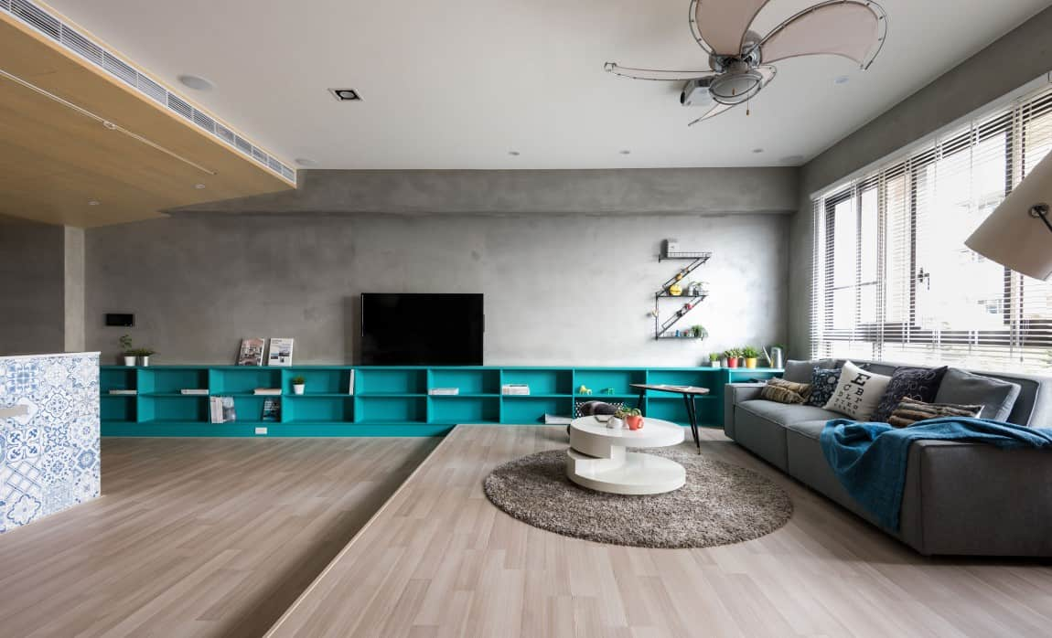 How to Define a Space with a Low Storage Wall System