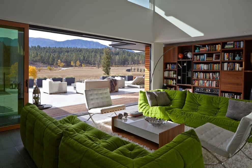 View In Gallery This Living Room In Green And White Is So Green 2 Thumb  630xauto 54630 This Living Part 44