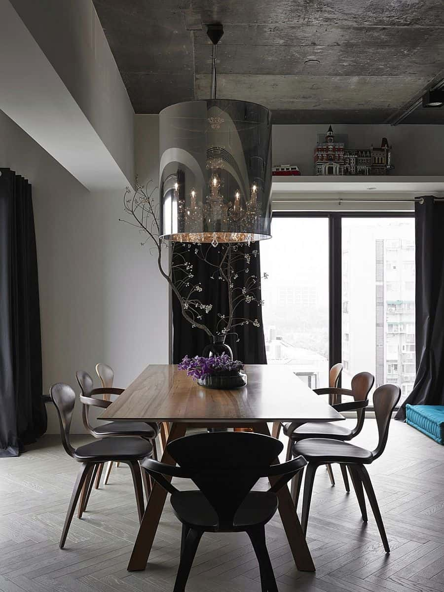 Black Grey And Blue Living Room Part - 17: View in gallery black-grey-and-blue-living-room-filled-with-