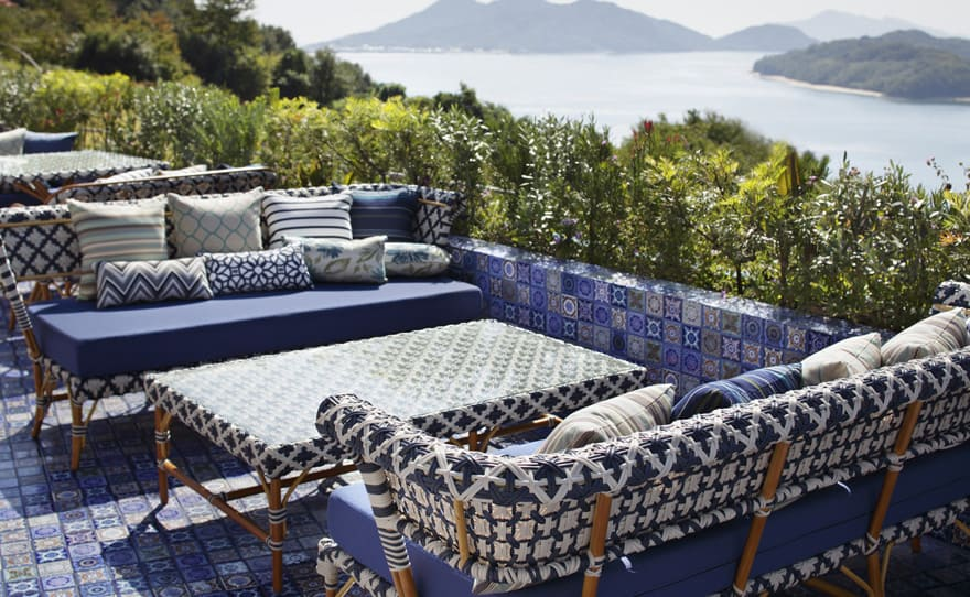 Outdoor Terrace Tile Design Idea – Lay the Entire Terrace in Patterned Tile