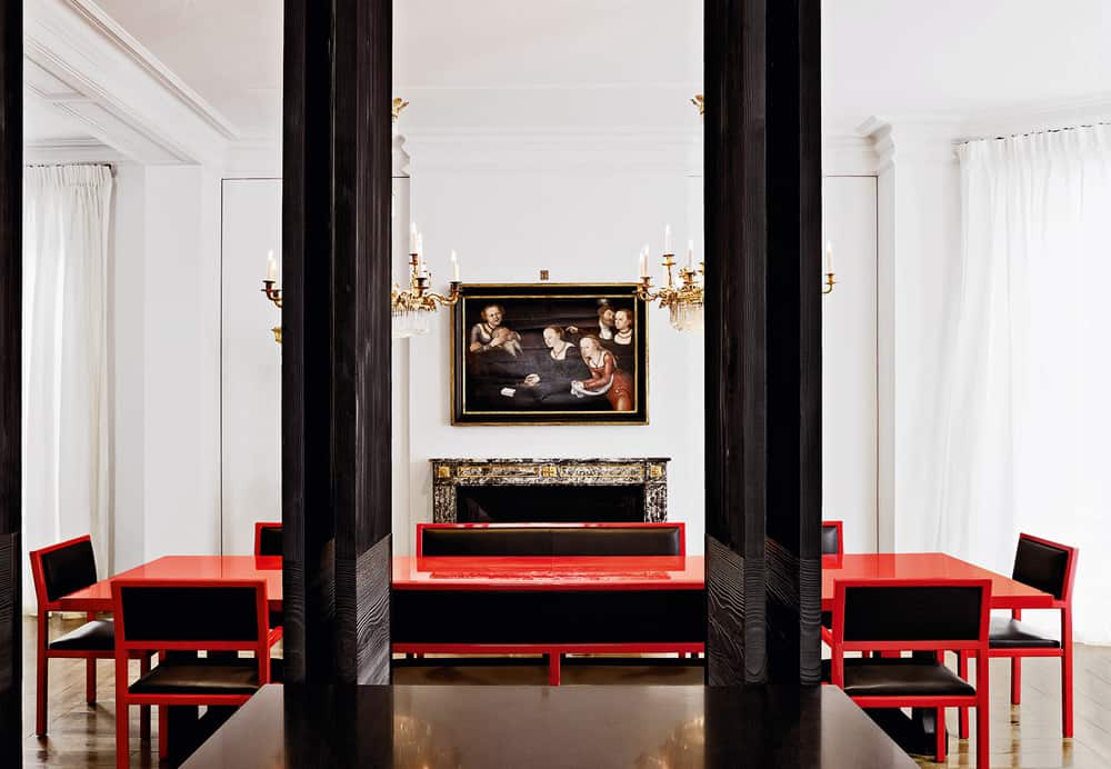 Now This Dining Room By Christian Liaigre Is Red Hot!