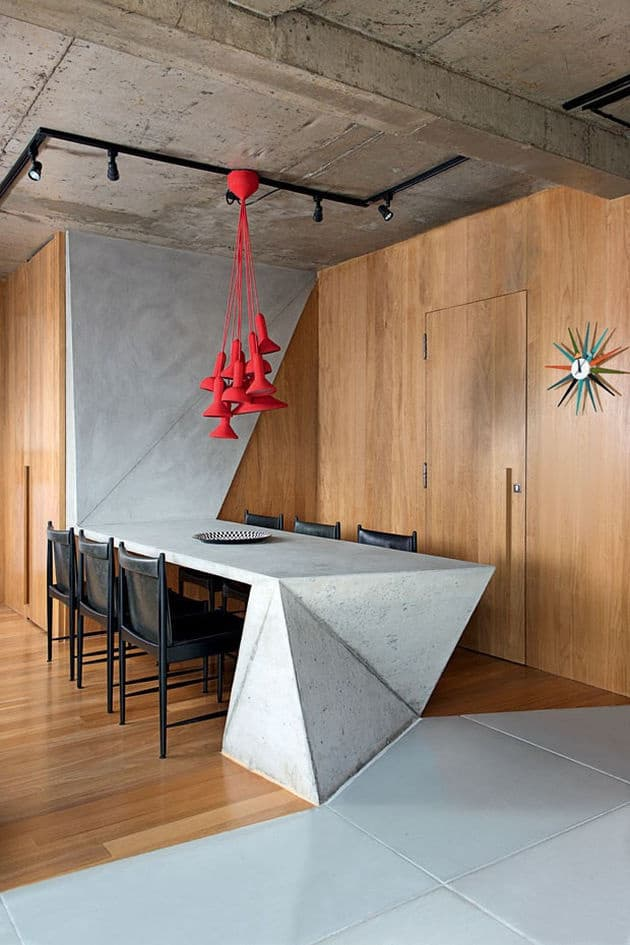 25-concrete-dining-table-and-modern-red-pendant-chandelier.jpg