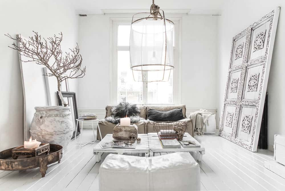 White room interiors 25 design ideas for the color of light - Decoracion nordica salon ...