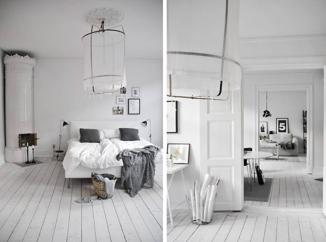 White room interiors 25 design ideas for the color of light for All floors