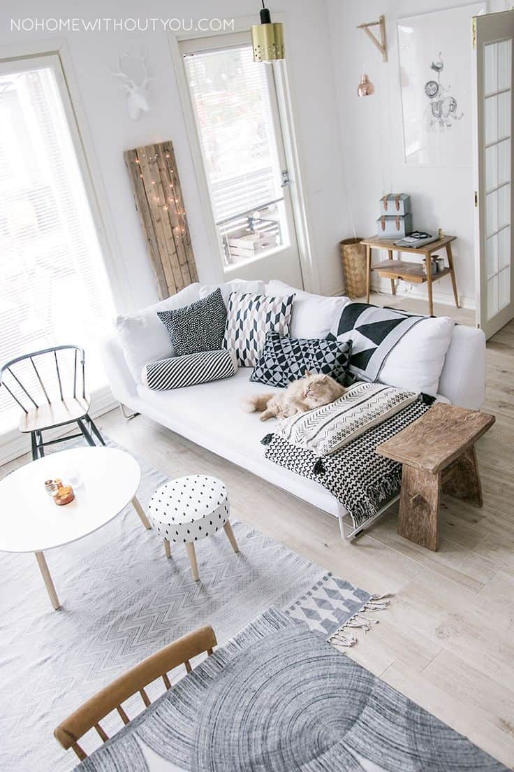 White Room Interiors: 25 Design Ideas for the Color of Light for Scandinavian Living Room Colorful  45hul