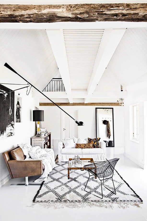 From Floor To Ceiling This Scandinavian Design Rocks The Color White. I  Especially Like How The Touches Of Black Are Kept To Slim Profiles And Line  Designs ...