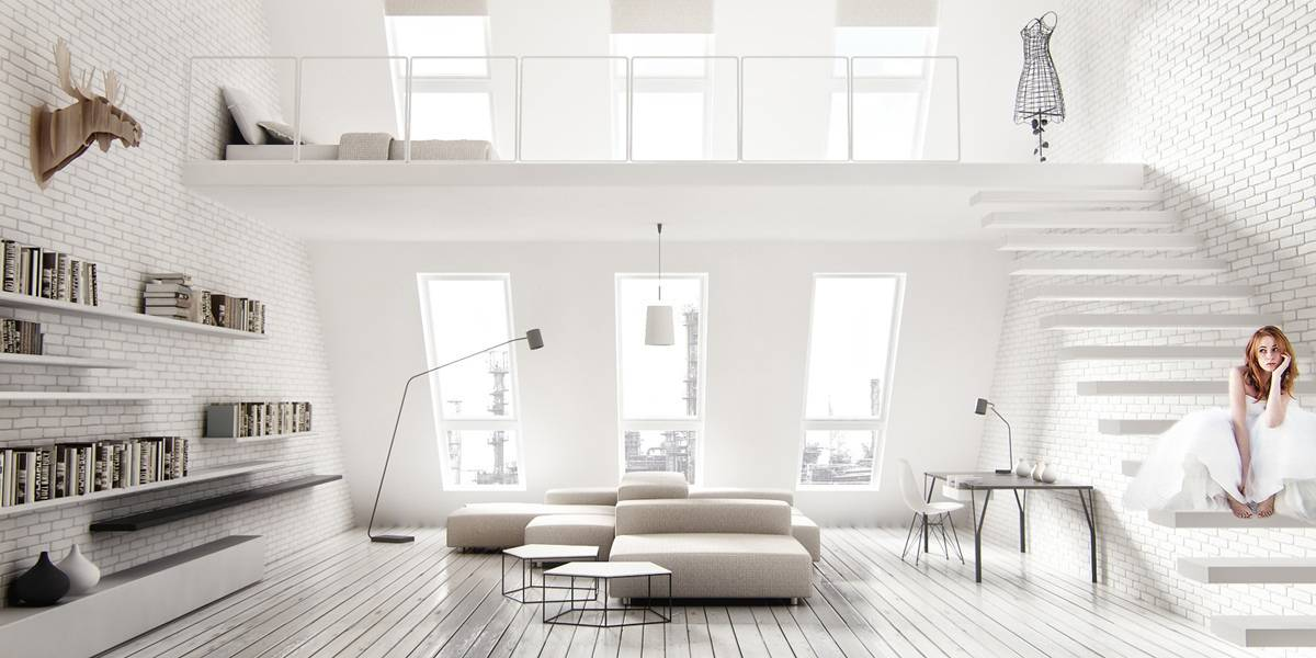 Geometric Details Bring Excitement To Modern White Interiors