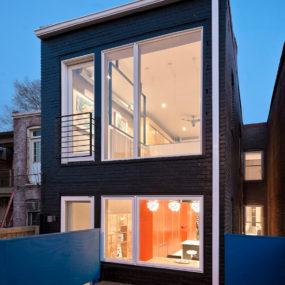Small Row House Renovation Idea: Bold Colors