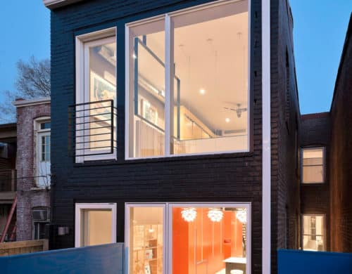 Small Row House Renovation Idea: Bold Colors