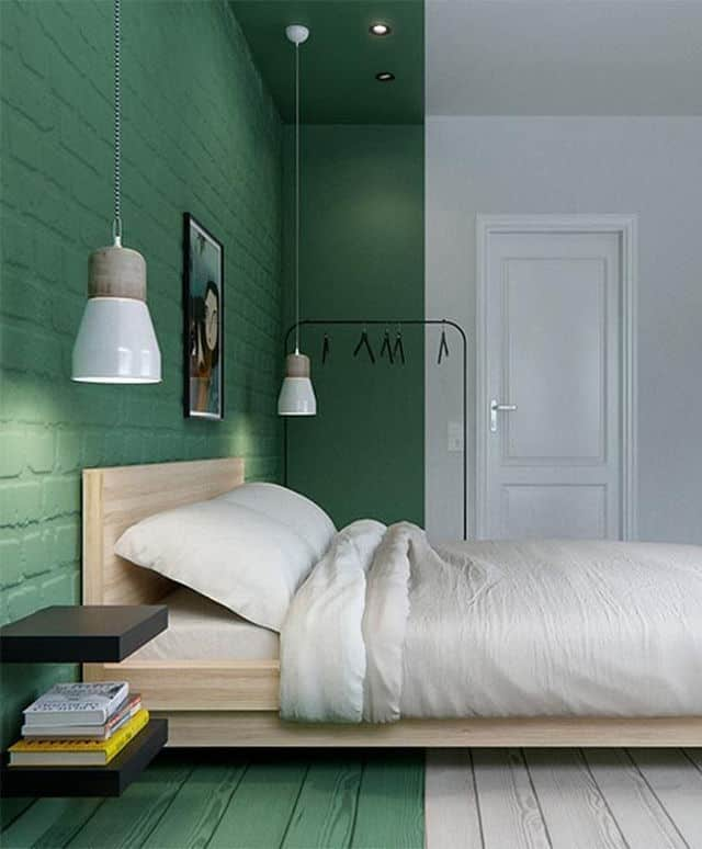 Start With Just A Green Accent Wall