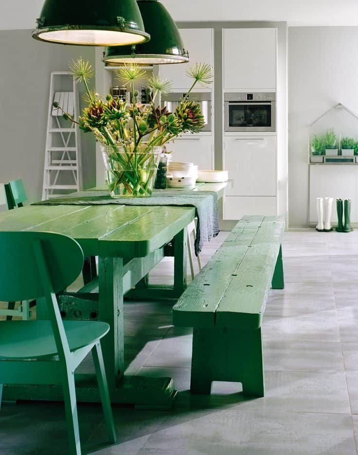 Charmant These Vintage Pendants And Their Powder Coated Steel Shades Take The Green  Drama Into The Vertical Realm. Remodelista