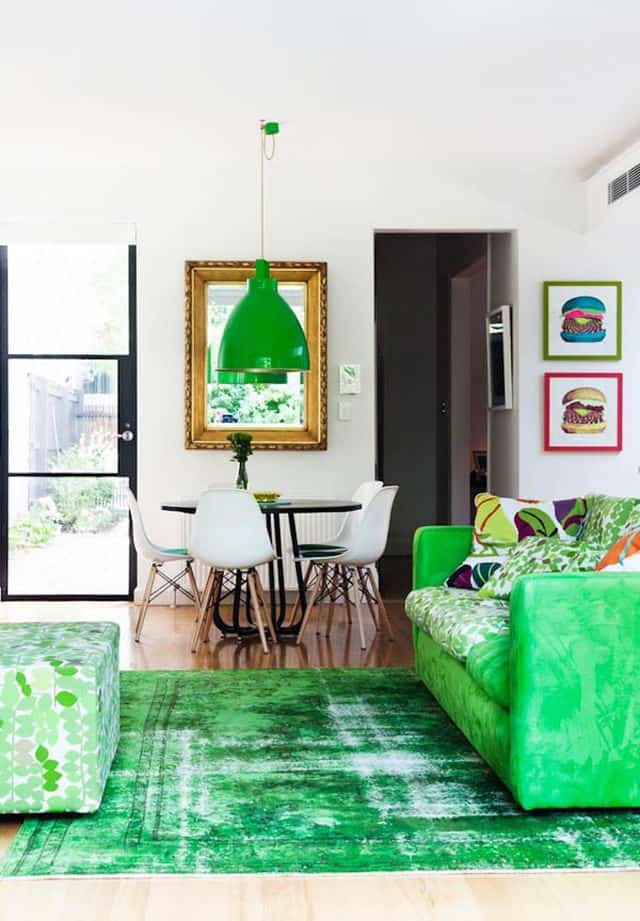 7 Ways to Create Green Color Interior Design