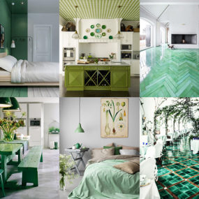 21 7 Ways To Create Green Color Interior Design