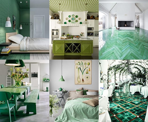 & 7 Ways to Create Green Color Interior Design