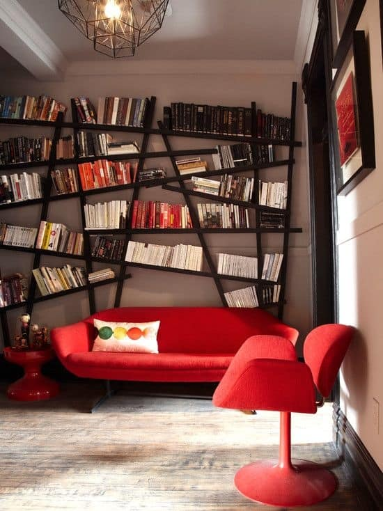 Sofas Don T Have To Be A Soft Shade Of Red Rock Look I Think This Sofa Has Rocked So Hard The Bookshelves Gone Wonky